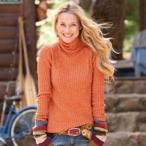 Sundance Long Sleeve Ribbed Turtleneck Sweater